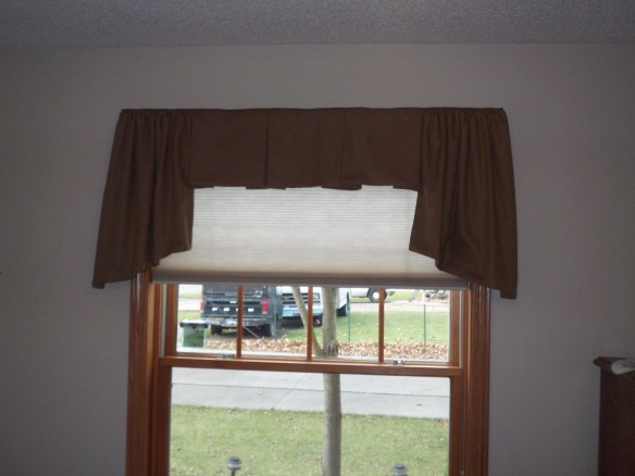 Board Mounted Valance with Cellular Shade